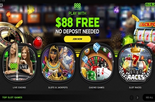 New 888 Casino Site Design - 888 Casino Homepage Screencap