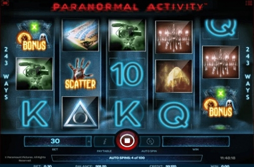 Paranormal Activity Slot - Screencap