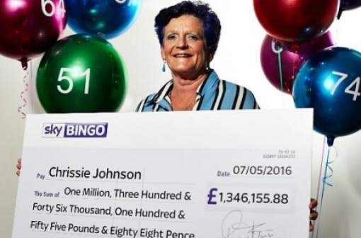 Playtech Jackpot Winner - Sky Bingo Player Chrissie Johnson wins 1.3 Million Pounds