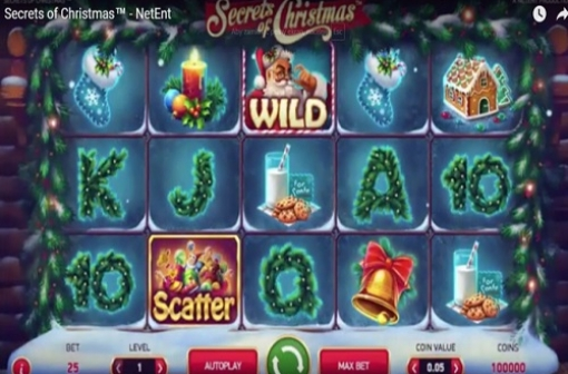 Secrets of Christmas NetEnt Slot - Screencap